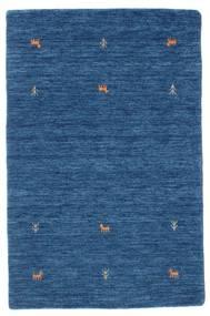 Gabbeh Loom Two Lines - Azul Alfombra 100X160 Moderna Azul Oscuro/Azul (Lana, India)