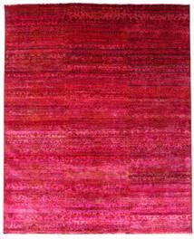 Sari Pura De Seda Alfombra 244X300 Moderna Hecha A Mano Roja/Rosa (Seda, India)