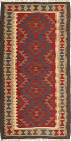 Kilim Maimane Alfombra 103X197 Oriental Tejida A Mano Gris Oscuro/Rojo Oscuro (Lana, Afganistán)