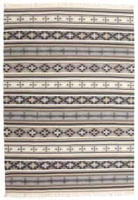 Kilim Cizre Alfombra 160X230 Moderna Tejida A Mano Gris Claro/Beige (Lana, India)
