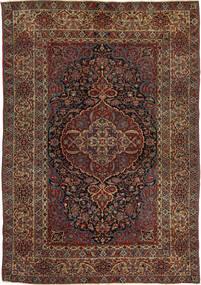Isfahan Antigua Alfombra 147X215 Oriental Hecha A Mano Rojo Oscuro/Marrón Oscuro (Lana, Persia/Irán)