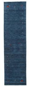 Gabbeh Loom Frame - Azul Oscuro Alfombra 80X300 Moderna Azul Oscuro (Lana, India)