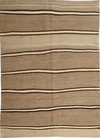 Kilim Moderno Alfombra 166X232 Moderna Tejida A Mano Marrón Claro/Beige Oscuro (Lana, Persia/Irán)