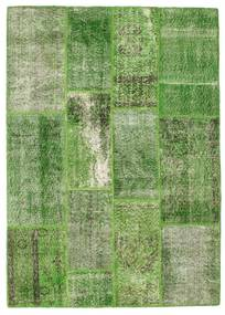Patchwork Alfombra 140X196 Moderna Hecha A Mano Verde Oscuro/Verde Claro/Verde (Lana, Turquía)