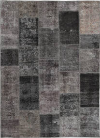 Patchwork Alfombra 165X237 Moderna Hecha A Mano Gris Oscuro/Marrón (Lana, Persia/Irán)