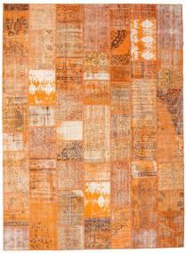 Patchwork Alfombra 274X373 Moderna Hecha A Mano Naranja/Marrón Claro Grande (Lana, Turquía)