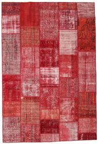 Patchwork Alfombra 201X299 Moderna Hecha A Mano Roja/Rosa (Lana, Turquía)
