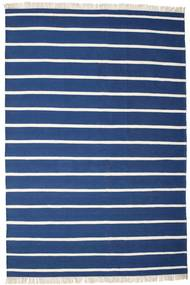 Dorri Stripe - Azul Oscuro Alfombra 220X320 Moderna Tejida A Mano Azul Oscuro/Azul (Lana, India)