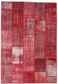 Patchwork Alfombra 202X298 Moderna Hecha A Mano Roja/Rojo Oscuro/Óxido/Roja (Lana, Turquía)