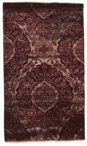Damask Alfombra 100X169 Moderna Hecha A Mano Rojo Oscuro/Marrón Oscuro ( India)