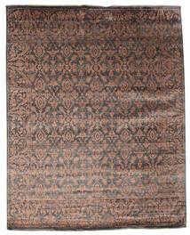 Damask Alfombra 232X292 Moderna Hecha A Mano Marrón Oscuro/Marrón ( India)