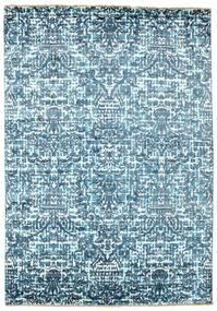 Damask Alfombra 170X244 Moderna Hecha A Mano Azul Claro/Azul ( India)