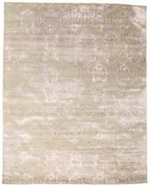 Damask Alfombra 242X308 Moderna Hecha A Mano Gris Claro/Blanco/Crema ( India)