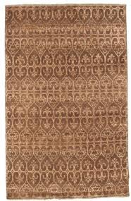 Damask Alfombra 114X181 Moderna Hecha A Mano Marrón/Marrón Claro ( India)