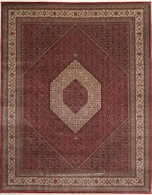 Bidjar Indo Alfombra 303X392 Oriental Hecha A Mano Rojo Oscuro/Marrón Grande (Lana, India)