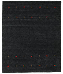 Gabbeh Loom Two Lines - Negro/Gris Alfombra 240X290 Moderna Negro (Lana, India)