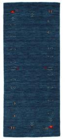 Gabbeh Loom Frame - Azul Oscuro Alfombra 80X200 Moderna Azul Oscuro (Lana, India)
