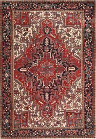 Heriz Alfombra 223X323 Oriental Hecha A Mano Rojo Oscuro/Negro (Lana, Persia/Irán)