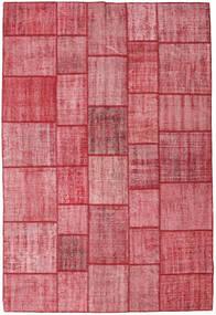 Patchwork Alfombra 205X305 Moderna Hecha A Mano Rosa/Óxido/Roja (Lana, Turquía)