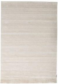 Bambú De Seda Loom - Beige Alfombra 160X230 Moderna Gris Claro ( India)