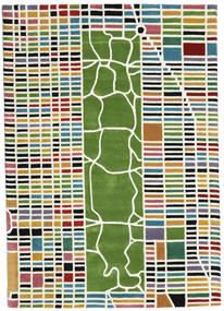 New-York/Manhattan Handtufted - Multi Alfombra 160X230 Moderna Beige/Verde Oscuro (Lana, India)