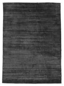 Bambú De Seda Loom - Charcoal Alfombra 160X230 Moderna Violeta/Negro/Gris Oscuro ( India)