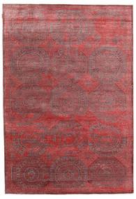 Himalaya Bambú De Seda Alfombra 202X296 Moderna Hecha A Mano Marrón/Rojo Oscuro ( India)
