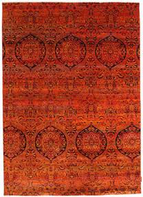 Sari Pura De Seda Alfombra 174X243 Moderna Hecha A Mano Óxido/Roja/Roja (Seda, India)