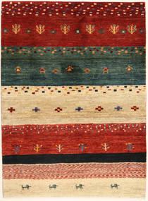 Loribaft Persia Alfombra 102X140 Moderna Hecha A Mano Roja/Verde Oscuro (Lana, Persia/Irán)