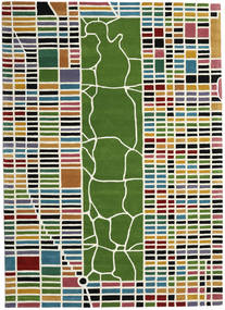 New-York/Manhattan Handtufted - Multi Alfombra 200X300 Moderna Beige/Verde Oliva (Lana, India)