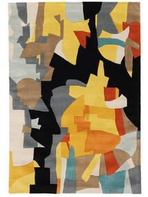Rasmus Alfombra 160X230 Moderna Negro/Marrón Claro (Lana, India)