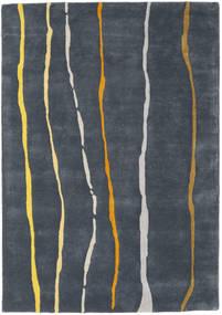 Flaws Handtufted - Gris Alfombra 140X200 Moderna Gris Oscuro/Azul Oscuro (Lana, India)