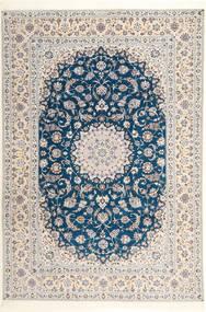 Nain 6La Habibian Alfombra 204X304 Oriental Hecha A Mano Gris Claro/Blanco/Crema (Lana/Seda, Persia/Irán)