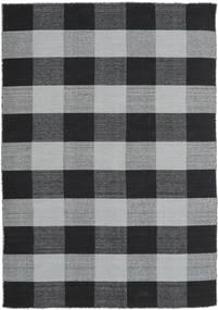 Check Kilim Alfombra 160X230 Moderna Tejida A Mano Negro/Gris Claro (Lana, India)