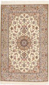 Isfahan Urdimbre De Seda Alfombra 130X212 Oriental Hecha A Mano Beige/Marrón (Lana/Seda, Persia/Irán)