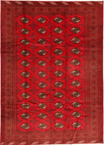 Turkaman Alfombra 208X293 Oriental Hecha A Mano Roja/Óxido/Roja (Lana, Persia/Irán)