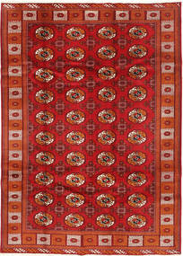 Turkaman Alfombra 198X277 Oriental Hecha A Mano Rojo Oscuro/Óxido/Roja (Lana, Persia/Irán)