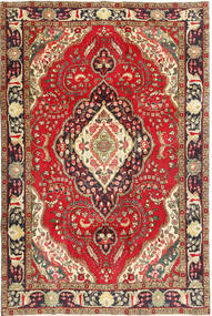 Tabriz Alfombra 200X298 Oriental Hecha A Mano Rojo Oscuro/Marrón Oscuro (Lana, Persia/Irán)