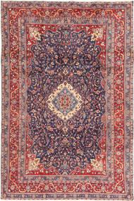Hamadan Shahrbaf Alfombra 205X316 Oriental Hecha A Mano Gris Oscuro/Óxido/Roja (Lana, Persia/Irán)