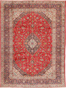 Keshan Signature : Kashan Ghotbi Alfombra 298X400 Oriental Hecha A Mano Marrón Claro/Óxido/Roja Grande (Lana, Persia/Irán)