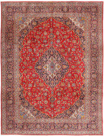 Keshan Alfombra 315X420 Oriental Hecha A Mano Rojo Oscuro/Óxido/Roja Grande (Lana, Persia/Irán)
