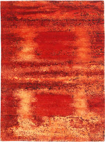 Roma Moderno Collection Alfombra 173X240 Moderna Hecha A Mano Óxido/Roja/Naranja ( India)