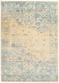 Roma Moderno Collection Alfombra 203X293 Moderna Hecha A Mano Beige/Gris Claro ( India)