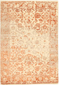 Roma Moderno Collection Alfombra 203X297 Moderna Hecha A Mano Beige Oscuro/Beige ( India)