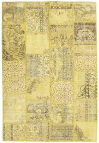 Patchwork Alfombra 159X236 Moderna Hecha A Mano Amarillo/Verde Oliva (Lana, Turquía)