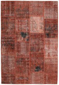 Patchwork Alfombra 159X232 Moderna Hecha A Mano Rojo Oscuro/Marrón Claro (Lana, Turquía)