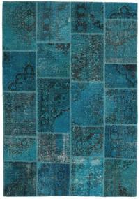 Patchwork Alfombra 159X230 Moderna Hecha A Mano Azul Oscuro/Turquesa Oscuro (Lana, Turquía)