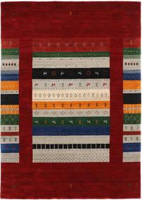Loribaf Loom Designer Alfombra 160X230 Moderna Rojo Oscuro/Gris Claro (Lana, India)