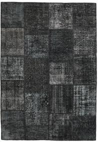 Patchwork Alfombra 158X230 Moderna Hecha A Mano Gris Oscuro/Negro (Lana, Turquía)