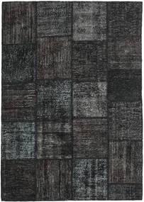 Patchwork Alfombra 158X230 Moderna Hecha A Mano Negro/Gris Oscuro (Lana, Turquía)